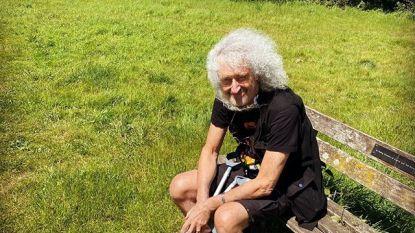 """Brian May (72) getroffen door hartaanval en gescheurde bilspier: """"Ongelofelijk wat échte pijn met je doet"""""""