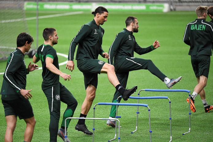 Zlatan trainde tijdens de lockdown mee bij Hammarby
