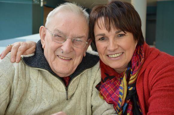 Gerard met zijn goeie vriendin schepen Greta Vandeputte.