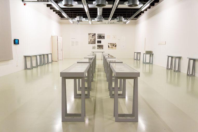 Expositie Stanley Brouwn in Stedelijk Museum Schiedam, 2017 Beeld Kim van Dee