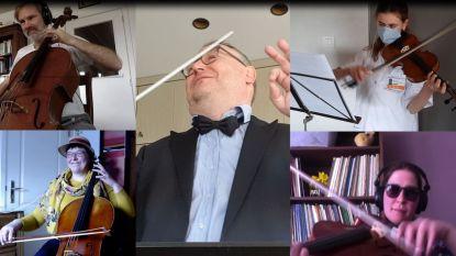 Leerlingen en leerkrachten Kunstacademie maken van thuis uit samen straffe videoclip: Art'Izt in je eigen kot