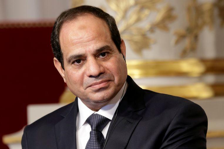 """De Egyptische president Abdel Fattah al-Sisi: """"Dit is geen televisiepraat, dit zijn de principes die ik omarm."""""""