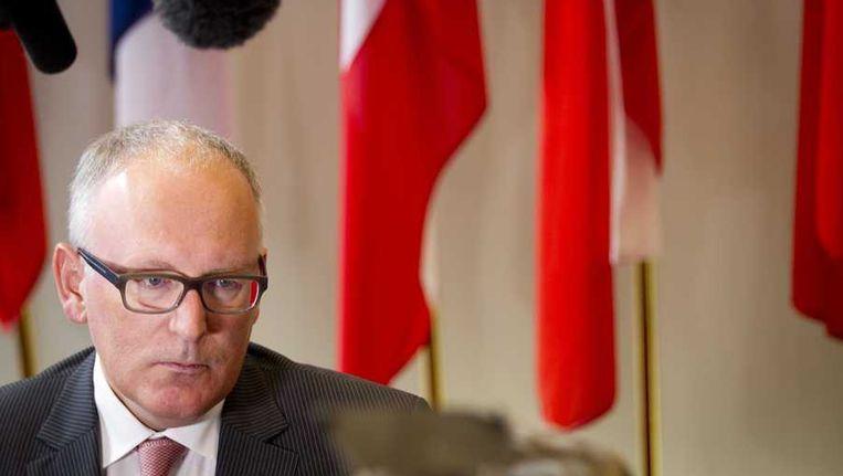 Minister Frans Timmermans van Buitenlandse Zaken Beeld null