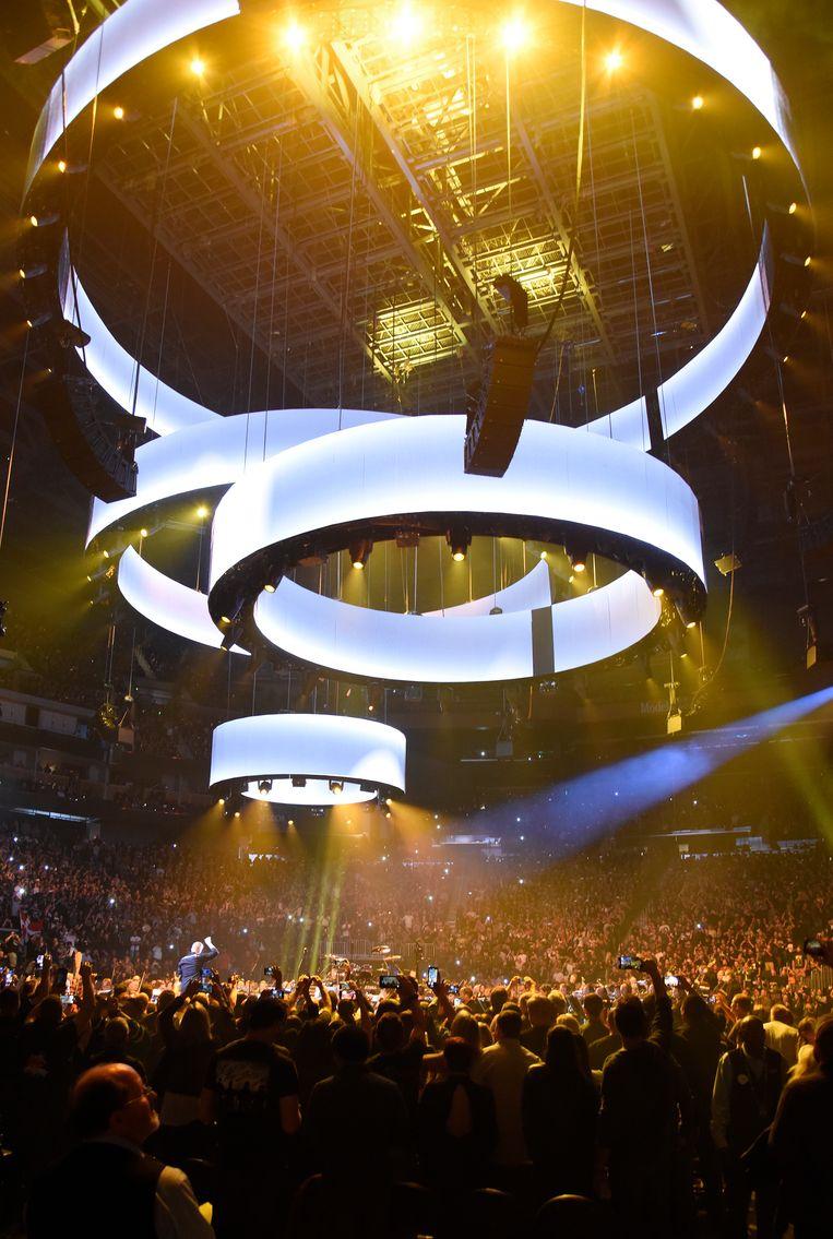 S&M2-optreden van Metallica en het San Francisco Symphony in het Chase Center in San Francisco op 6 september 2019. Beeld Getty Images