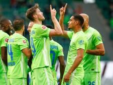Scorende Weghorst wint met Wolfsburg nipt van Bielefeld, Werder verliest opnieuw niet