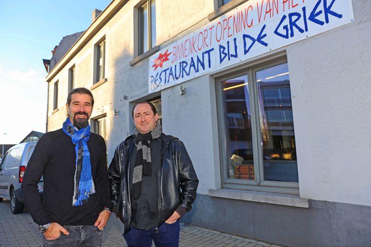 Zaakvoerders Dimitri Georgoulis en Spiros Karagianis verhuizen hun restaurant naar het voormalige café De Wijndruif.