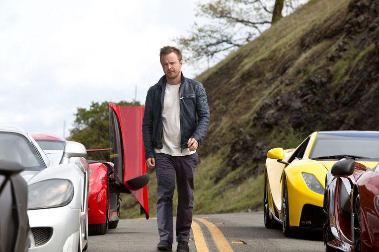 Aaron Paul in Need for Speed (Scott Waugh, 2014). Beeld