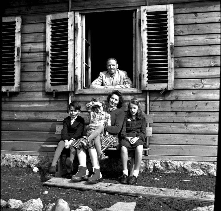 Otto Wächter en zijn familie na de oorlog in Oostenrijk Beeld