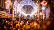 Lichttunnel redt oudejaar in Oostende