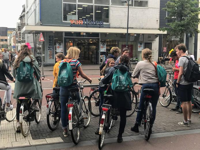 Utrechtse studenten tijdens de introductie week 2018.