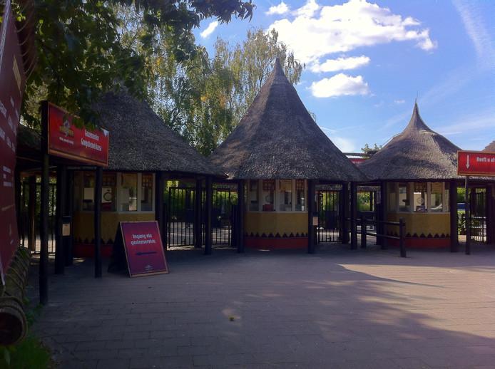 De kassa's van het Safaripark worden tijdelijk 100 meter verplaatst.