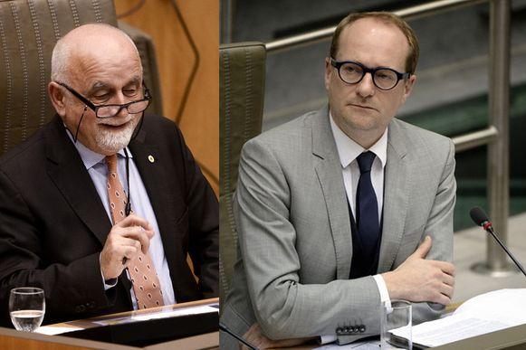 Vlaams parlementsvoorzitter Jan Peumans en N-VA-minister Ben Weyts.