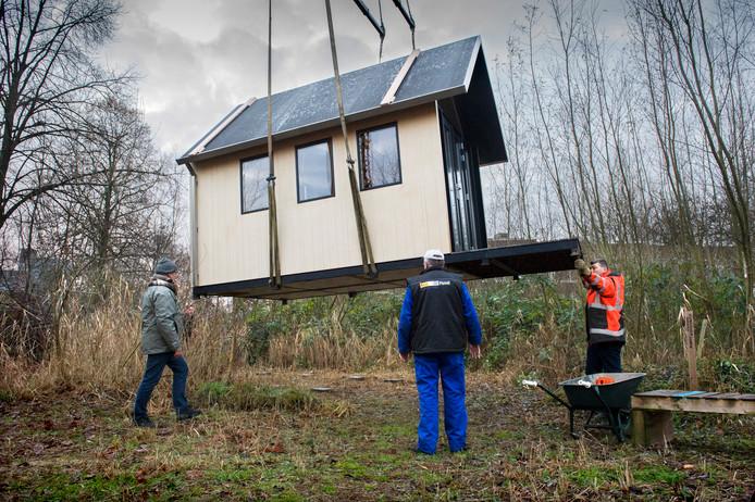 Een  voorbeeld van een Tiny House zoals neergezet op Minitopia aan de Eekbrouwersweg.