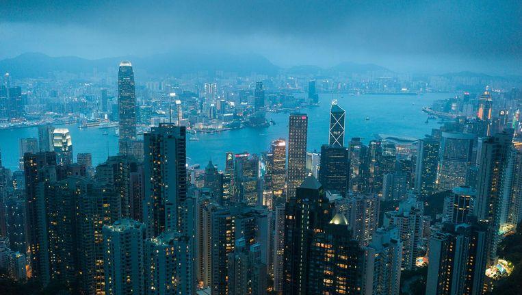 Uitzicht over het financiële centrum van Hongkong. Beeld epa