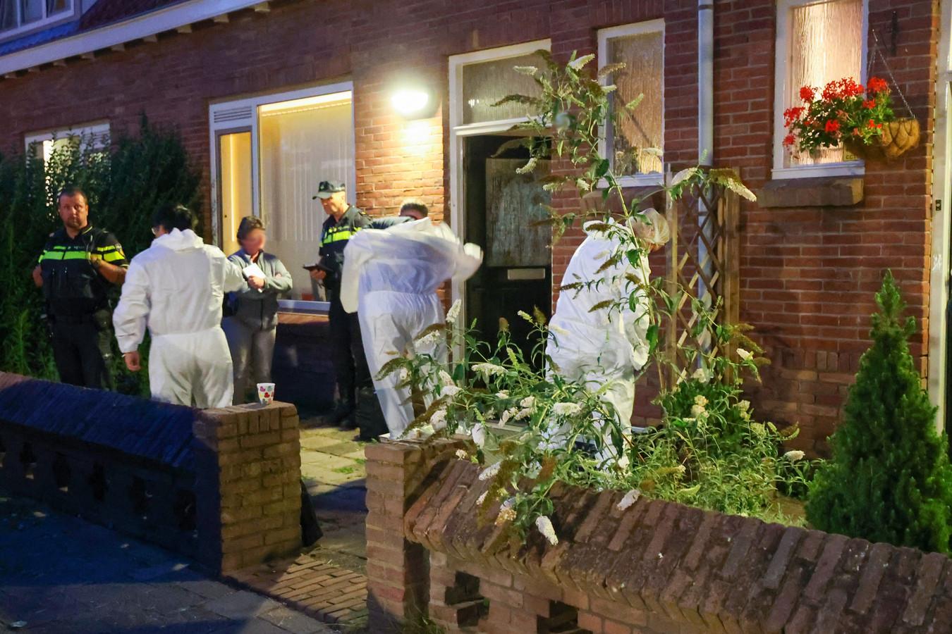 De woning aan de Sparrenstraat waar de Eindhovenaar op 21 juli dood werd aangetroffen.