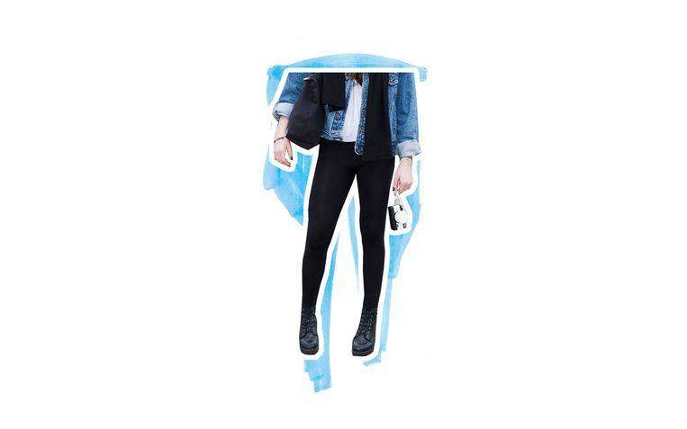 Een strakke legging. Beeld Foto: Getty, Bewerking: Studio V