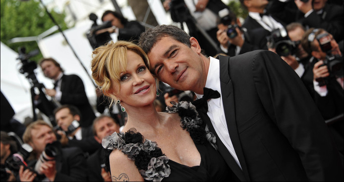 Melanie Griffith et Antonio Banderas, au Festival de Cannes, en 2011. Le couple s'est séparé en 2015.