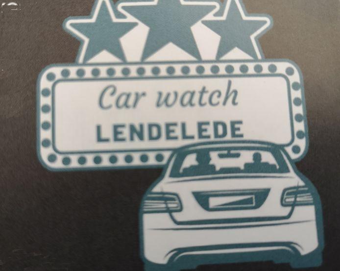 Het Car Watch-logo van Lendelede.