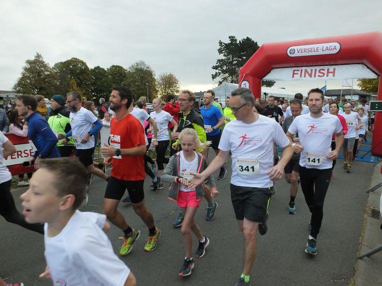 Jong en oud schreef zich in voor de Versele-Laga Run.