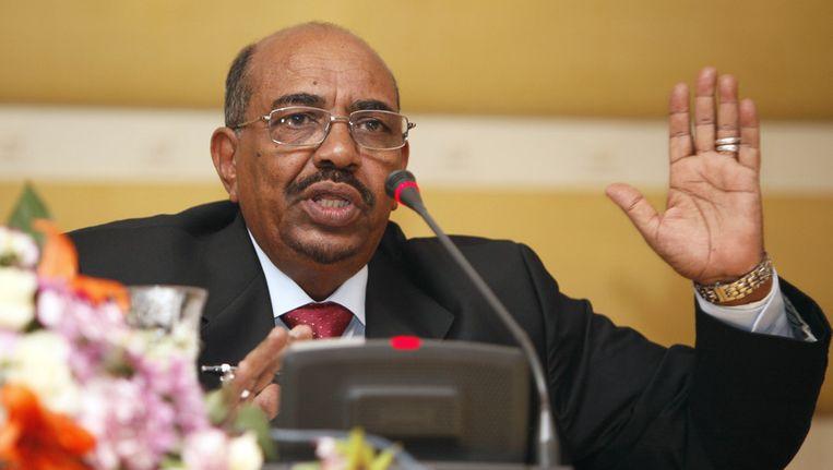 Omar al-Bashir zegt dat het zijn recht is om de VN-vergadering bij te wonen. Beeld ap