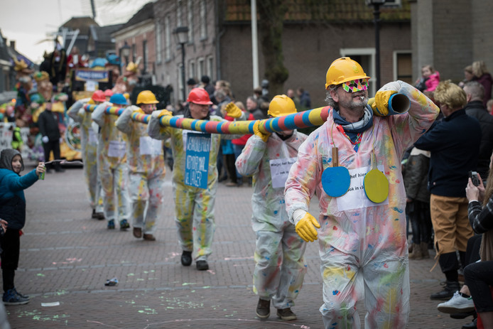 Archiefbeeld van de carnavalsoptocht in Wijhe