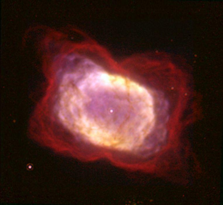 De planetaire nebula NGC 7027 in het sterrenbeeld Zwaan, waar de molecule waargenomen werd.