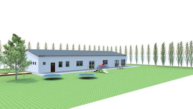 De nieuwbouw voor Chiro Sonneveld zal groot genoeg zijn voor een comfortabele werking.