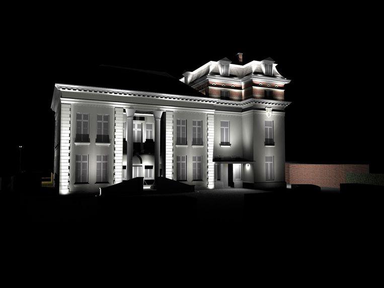 Wit licht zal de twee delen van het kasteel Broydenborg verbinden.
