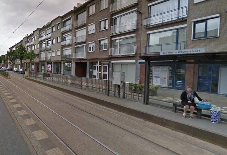 De tramhalte waar het ongeval gebeurde.