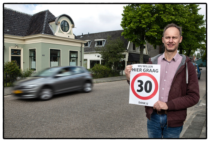 Jelte Althuis wilde een lagere snelheid, de gemeente niet.