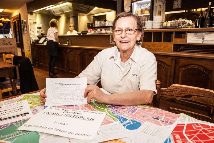 Marie-Christine had zette zich in voor haar zaak én voor de stad. Ze toonde zich een hevige tegenstander van het circulatieplan, en verzamelde handtekeningen in haar pannenkoekenhuis.