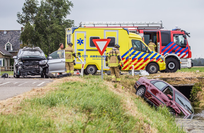 Ongeval letsel Achterweg/Romeinseweg Mijnsheerenland.