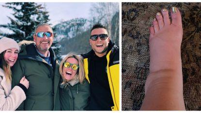 SHOWBITS. De familie Verhulst zoekt de sneeuw op en Jessica Simpson kampt met een klein probleempje