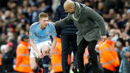 """Ironische Guardiola neemt het op voor """"'s werelds beste middenvelder"""" De Bruyne: """"De beste in 2017-2018? Dat was toch Salah?"""""""