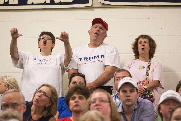 Trump-aanhangers eerder deze week (niet in de video van de New York Times) Beeld ap