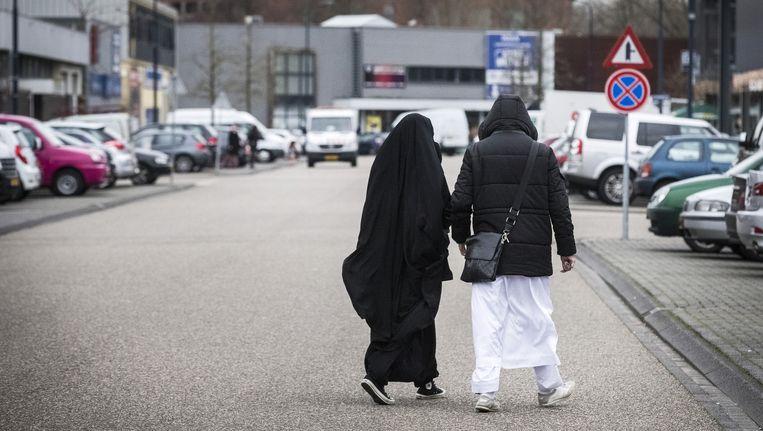 Bezoekers van 'jihadproces' Context, vorige maand in Amsterdam. Deze mensen komen niet voor in dit artikel. Beeld anp