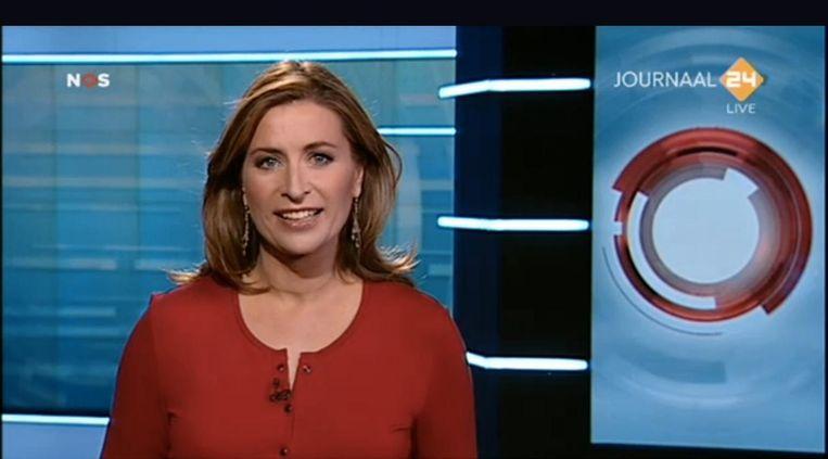 Sacha de Boer tijdens haar laatste uitzending voor de NOS. Beeld anp