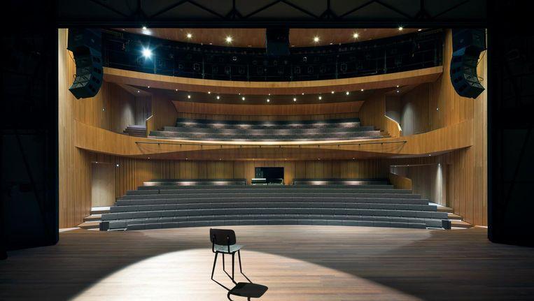 De vernieuwde zaal van het Singertheater. Beeld Christiaan van der Kooij