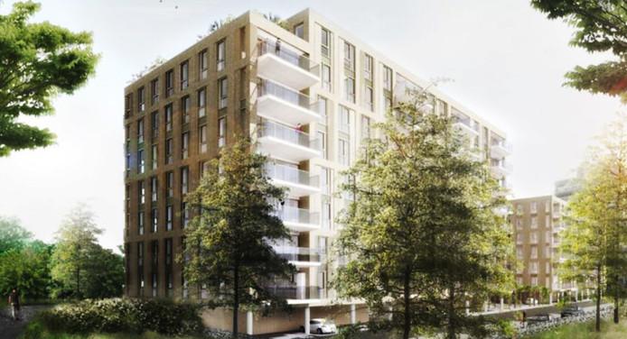 In Tuindorp-Oost komen 150 levensloopbestendige appartementen.