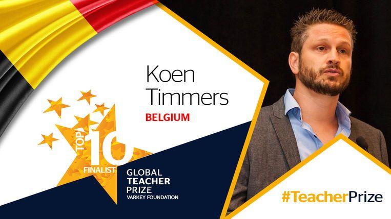 De Vlaamse leerkracht Koen Timmers maakt kans op 1 miljoen dollar.