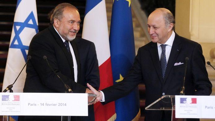 Avigdor Lieberman et Laurent Fabius