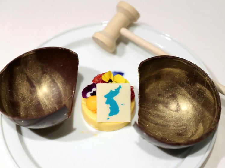 Historische top tussen Korea's:  kernkoppen, k-pop en mangomousse