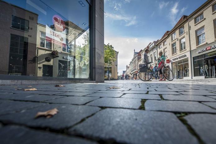 Winkelleegstand in de Zuivelstraat in het centrum van Bergen op Zoom. foto Tonny Presser/pix4profs
