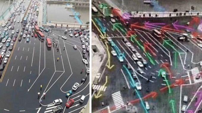 Is dit 's werelds moeilijkste verkeersknooppunt?