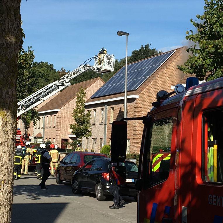 Brand in elektriciteitskast  Ombeekhof Sint-Amandsberg