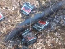 Spoor van motorolie getrokken in bos in Bergen op Zoom: 'dertig meter smeerbende'