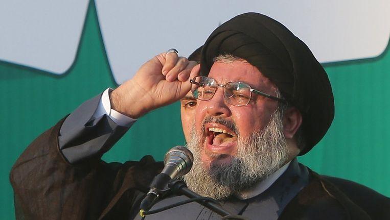 Hezbollah-leider Hassan Nasrallah Beeld AFP