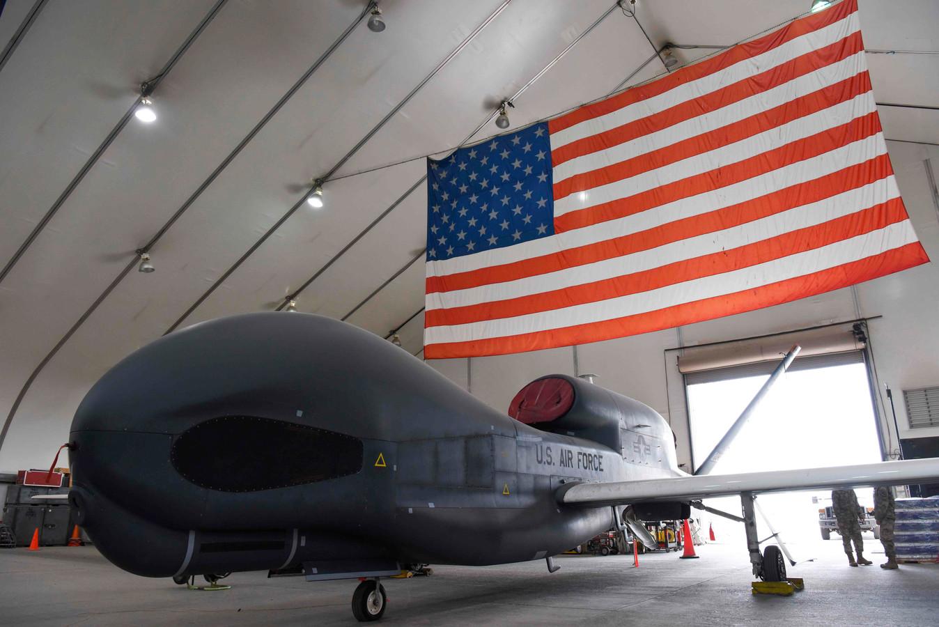 Een Amerikaanse militaire drone RQ-4A Global Hawk, hetzelfde type als door Iran is neergehaald.