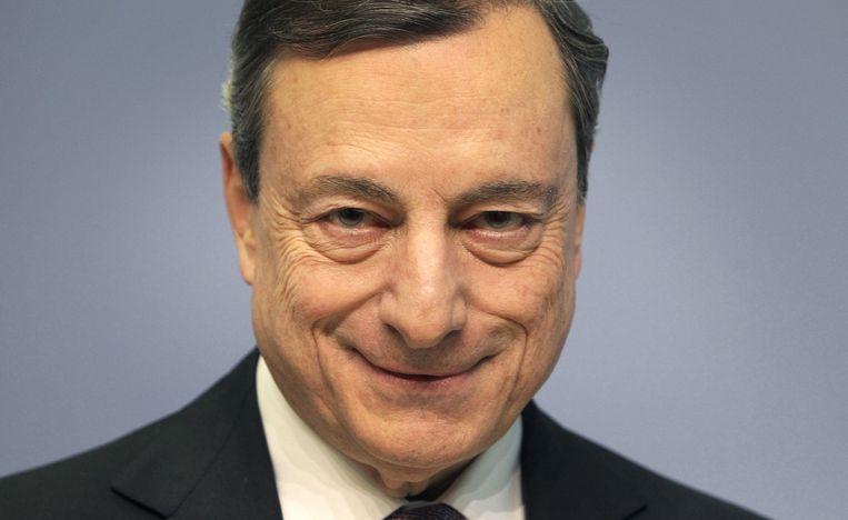Mario Draghi in maart 2018. Beeld AFP