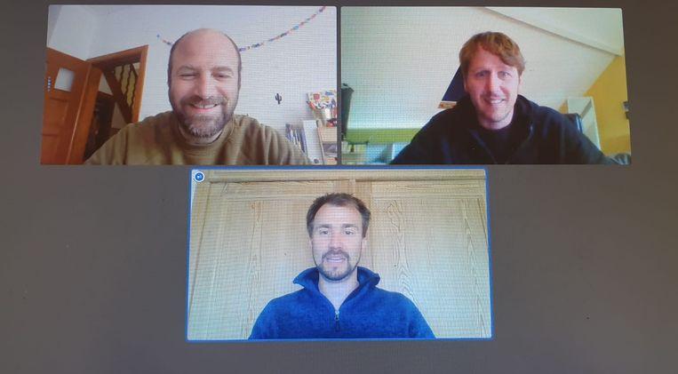 Bram Lauwers, Harald Heyvaert en Bert Vandermeulen organiseren zaterdag voor de achtste keer een onlinequiz.